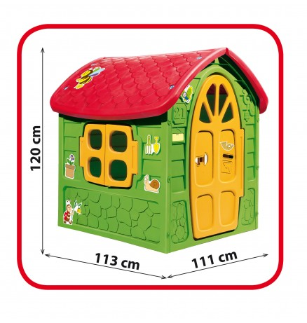 Dorex - Állatos Játékház - Gyerek Játszóház (Zöld)